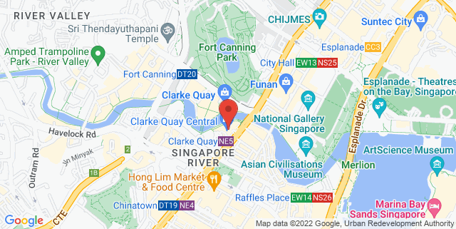 Map showing Clarke Quay Central