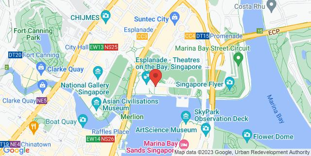 Map showing Molly Roffey's Esplanade