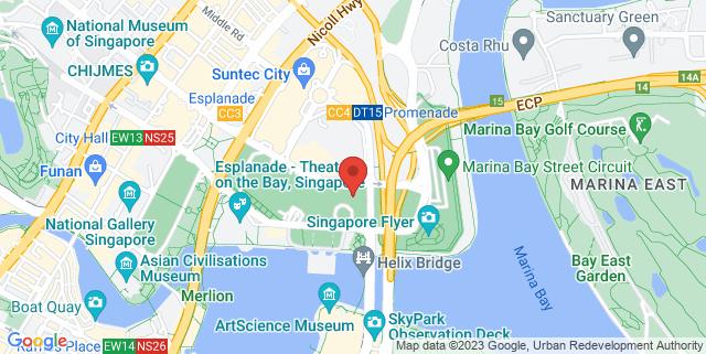Map showing The Ritz Carlton Singapore