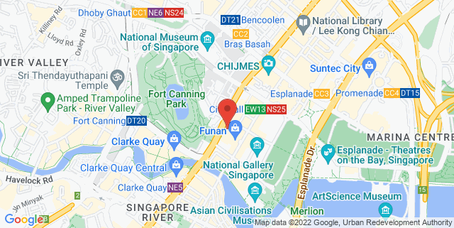 Map showing Pennisula Excelsior Plaza Hotel