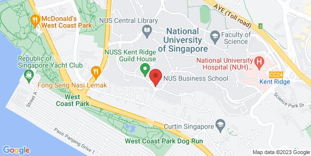 Map showing NUS Business school