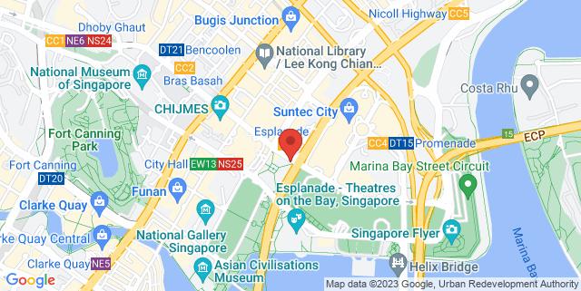 Map showing Esplanade Xchange