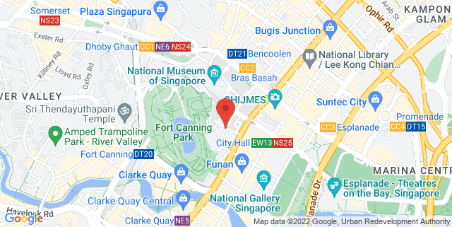 Map showing Armenian Street - Singapore Night Festival