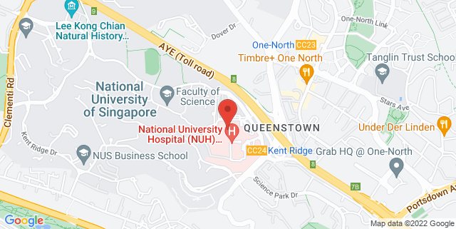 Map showing NUH Medical Centre
