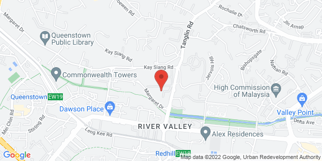 Map showing Salvation Army Tanglin