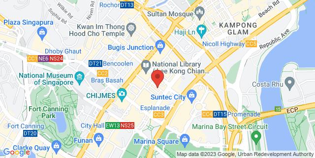 Map showing Voilex Office (opposite Bras Basah Complex)