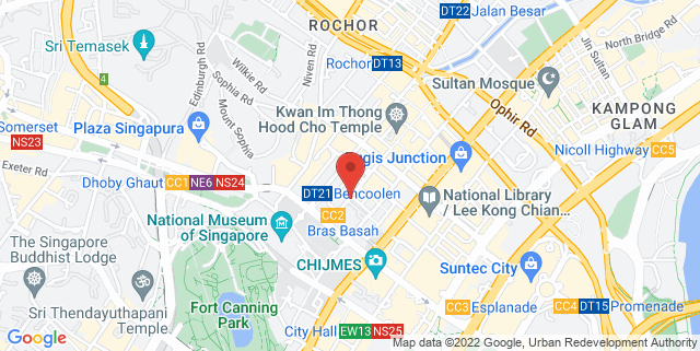 Map showing Singapore Ballet Academy