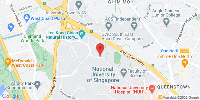 Map showing NUS Sports & Recreation Centre