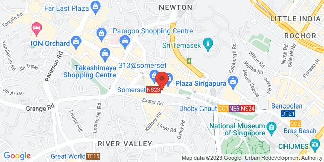 Map showing Hotel Jen Orchardgateway
