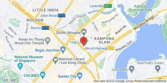 Map showing Blu Jaz Cafe