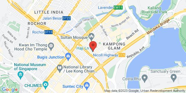 Map showing Haji Lane, Le Kue