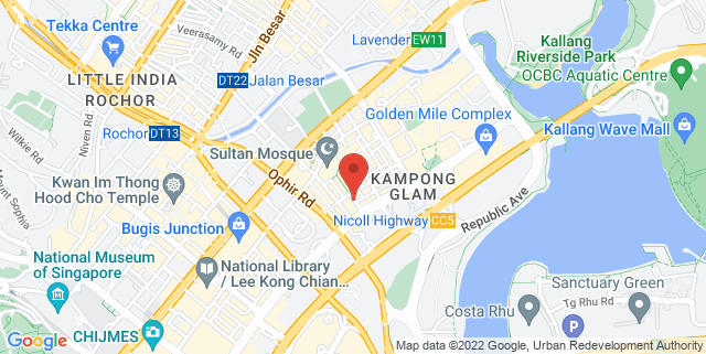Map showing HackerSpaceSG