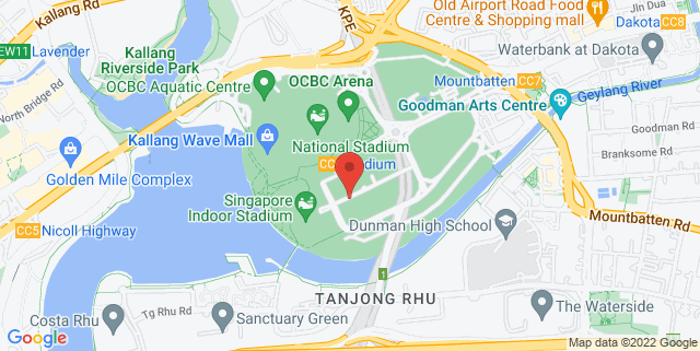 Map showing Sports Hub Library