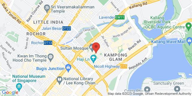 Map showing Bussorah Training Room
