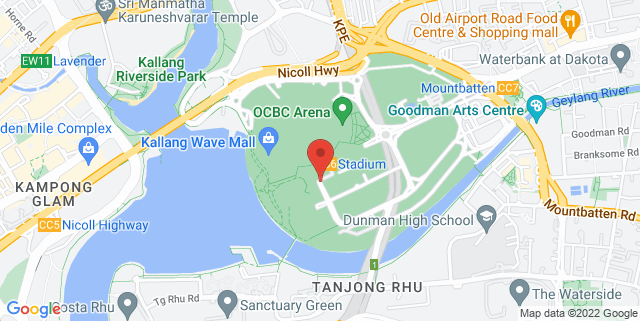 Map showing Kallang Theatre