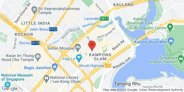 Map showing Kaw Kaw SG