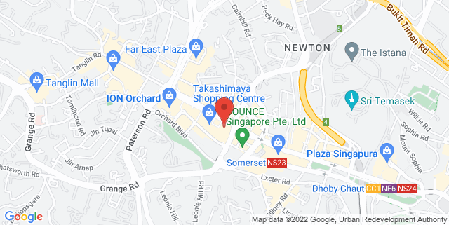 Map showing Tent @ Orchard Ngee Ann City
