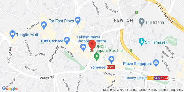 Map showing Kinokuniya Singapore Main Store