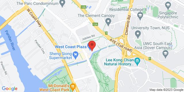 Map showing West Coast Plaza