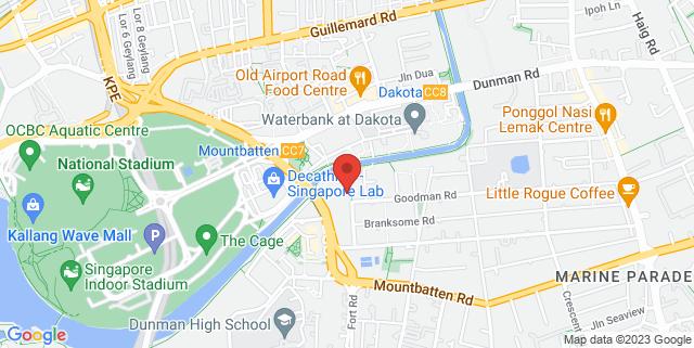 Map showing Goodman Arts Centre