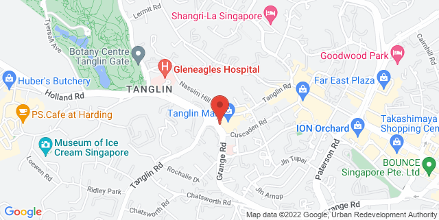Map showing Chili's