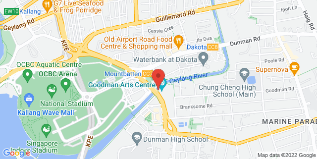 Map showing Geylang Park Connector