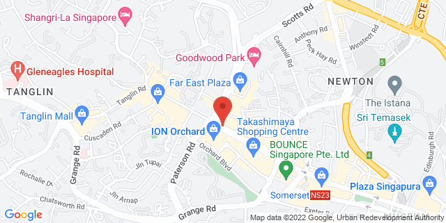 Map showing Marriot Hotel