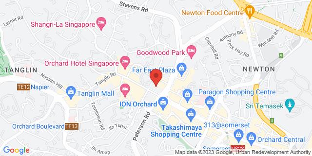 Map showing Blowfish Bar and Entertainment