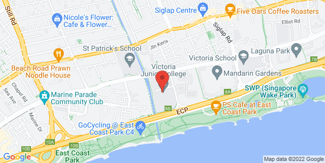 Map showing Victoria Junior College, Performance Theatre
