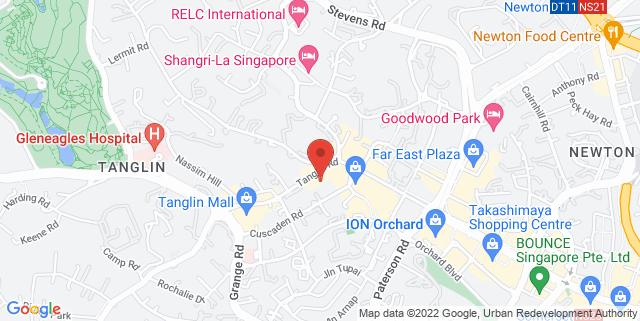 Map showing Tanglin Shopping Centre