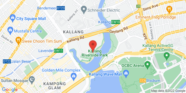Map showing Kallang Riverside Park