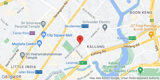 Map showing HackerspaceSG Kallang