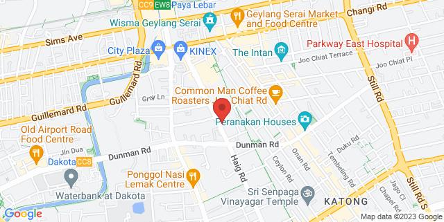 Map showing Geylang Serai Community Club