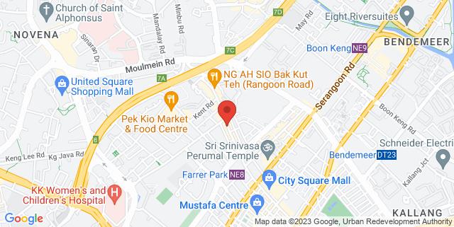 Map showing Full Circle SG