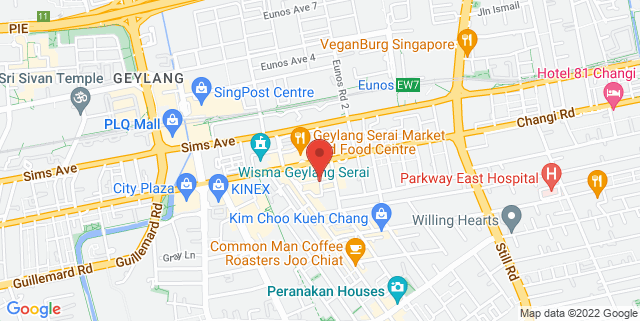 Map showing Immigrants – The Singapore Gastrobar