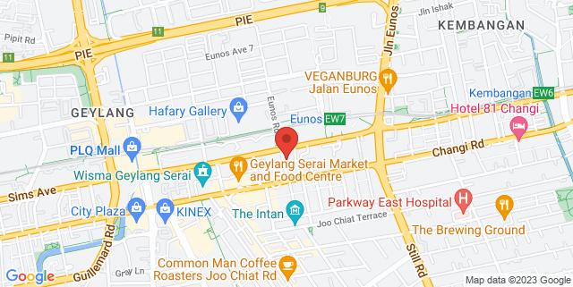 Map showing Kampong Ubi Community Centre