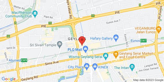 Map showing Paya Lebar Square