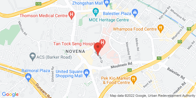 Map showing Oasia Hotel Singapore by Far East Hospitality
