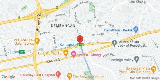 Map showing Kembangan MRT station