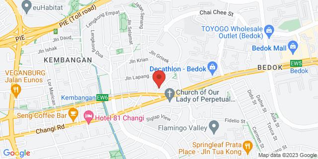 Map showing Ananda Marga Singapore