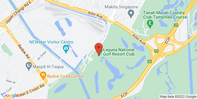 Map showing Laguna National Golf & Country Club