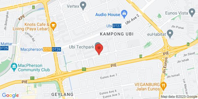 Map showing UBI Techpark