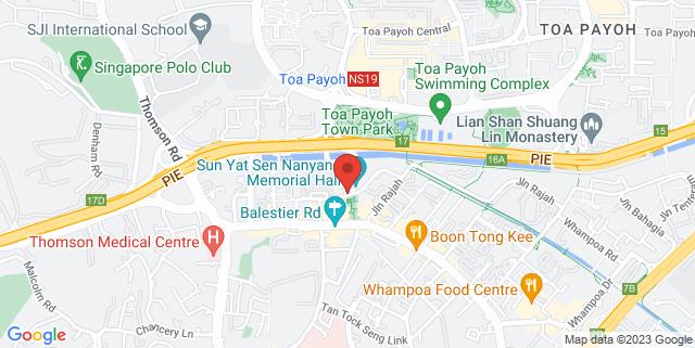 Map showing Sun Yat Sen Nanyang Memorial Hall