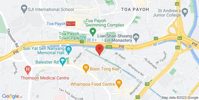 Map showing Zhongshan Park