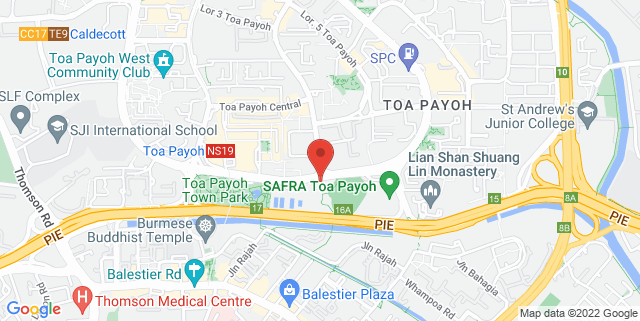Map showing Toa Payoh Sports Hall