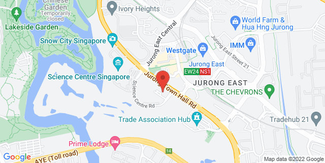 Map showing Genting Hotel Jurong