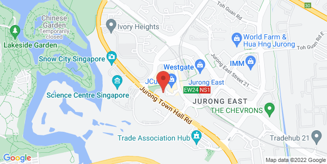 Map showing Jurong Regional Library