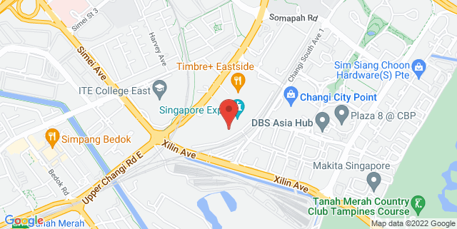Map showing Max Atria, Singapore Expo