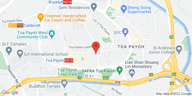 Map showing Toa Payoh Central Amphitheatre