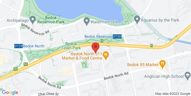 Map showing Kaki Bukit Neighbourhood Park
